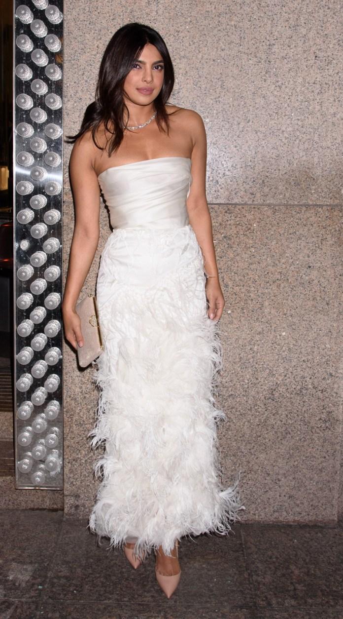 Stunning Photos Of Priyanka Chopra's Gorgeous Bridal Shower Dress 3