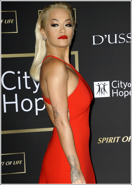 Red Hot! Rita Ora Looks Super Hot And Stunning In A Fanciful Red Dress 1