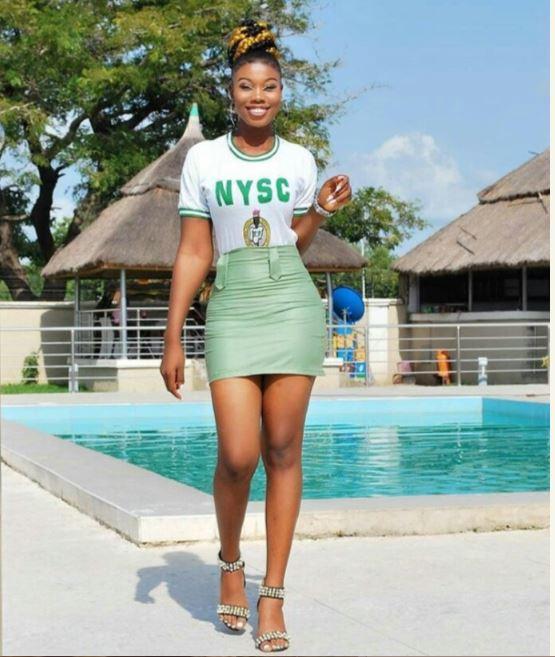 So Stew: Slay Queen Corper Turns Her Khaki Wear To Mini Skirt 3