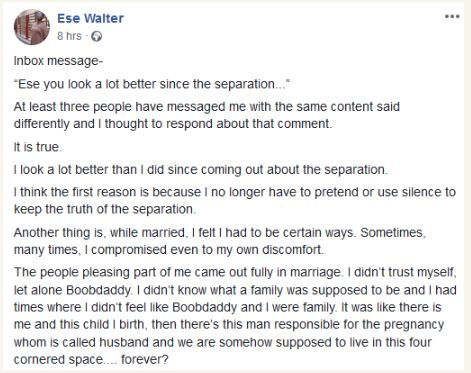 Ese Walter Of Pastor Biodun Fatoyinbo's COZA Sex Scandal Separates From Husband 3