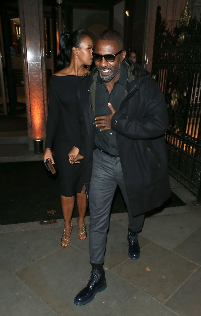 Hot couple Alert! Idris Elba And Fiancee Sabrina Dhowre Step Out In Style 2