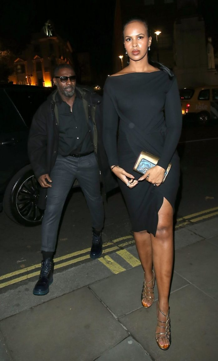 Hot couple Alert! Idris Elba And Fiancee Sabrina Dhowre Step Out In Style 1