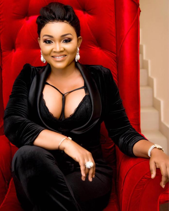 Style Stalking: Mercy Aigbe Is A Stunner In Daring Cleavage-Baring Suit And Bralet 1