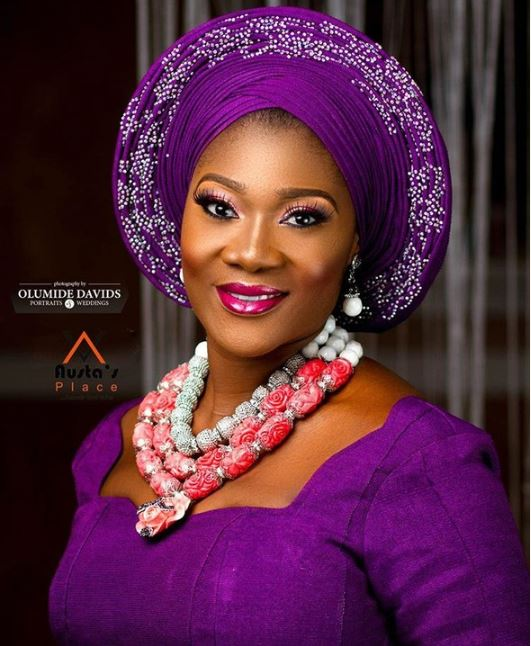 Aso Ebi Style: Mercy Johnson Is All Shades Of Gorgeousness In Purple 1