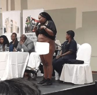 South African Rape Victim Strips Naked In Public To Show Scars inflicted On Her By Rapists 2