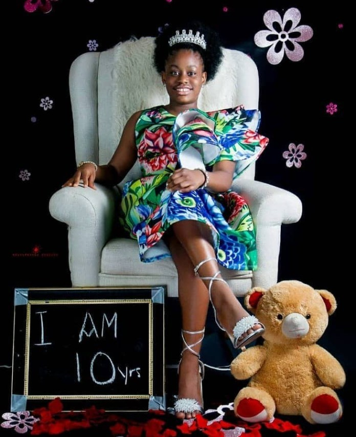 She Has A Mission To Fulfill On Earth - Uche Elendu Releases Beautiful Photos As She Celebrates Daughter's 10th Birthday 1