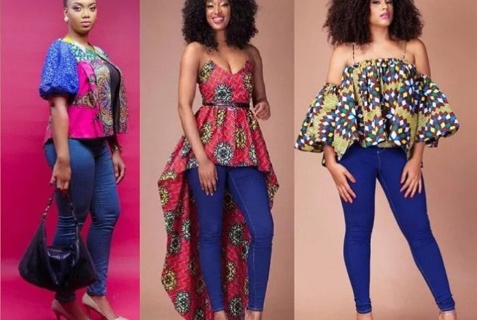 Ankara Style: Step Out In Style With These Trending Ankara Top-on-Jeans Designs For Your Outings 3