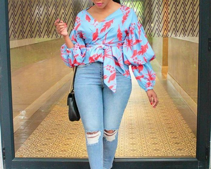 Ankara Style: Step Out In Style With These Trending Ankara Top-on-Jeans Designs For Your Outings 2