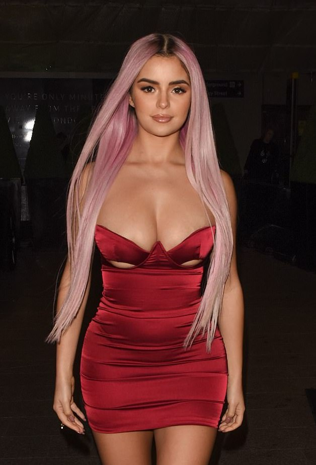 Demi Rose Flaunts Her Huge Boobs In Dangerously Cut-Out