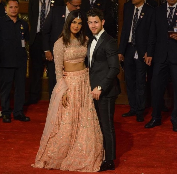 Priyanka Chopra Stuns In Stuning Lehenga As She And Husband Nick Jonas Attend Lavish $100m Wedding In India 6