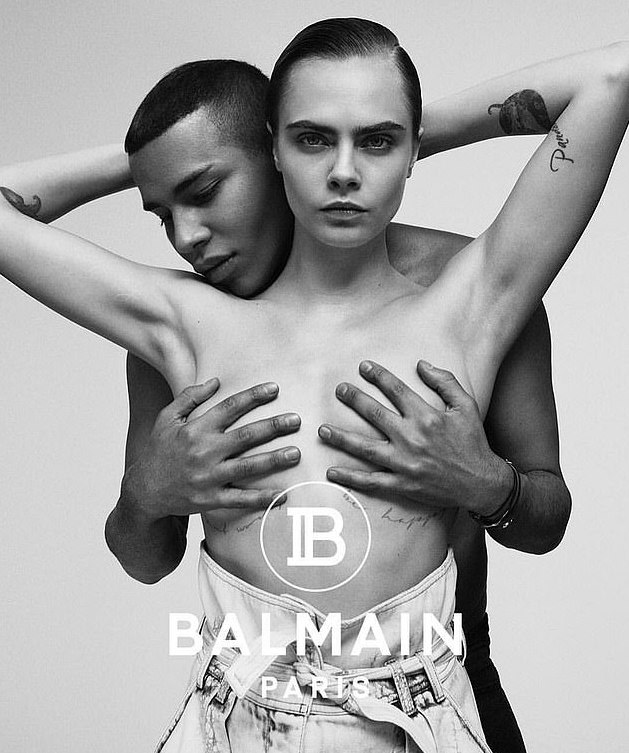 These Topless New Balmain Campaign By Cara Delevigne Will Leave You Speechless 1