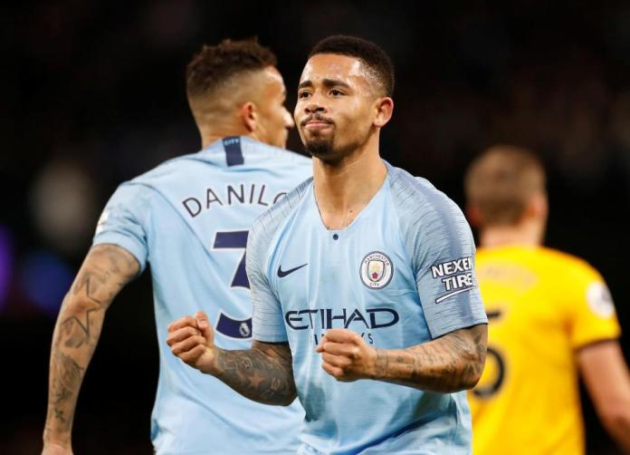 Manchester City 3 Wolves 0:Jesus' Double Reduces Liverpool's Lead At The Top To Four Points 2