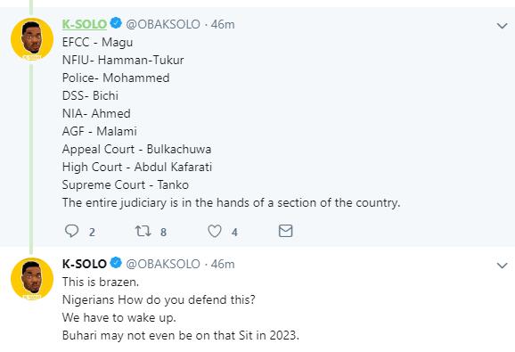 I Regret Casting My Vote For Buhari In 2015 - K-Solo 2