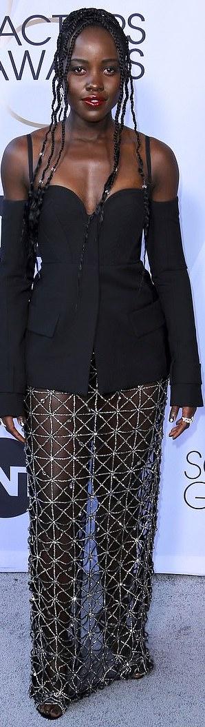 The Insider: Lady Gaga, Angela Bassett, Lupita Nyong'O Storm The Red Carpet Of The 2019 SAG Awards 13