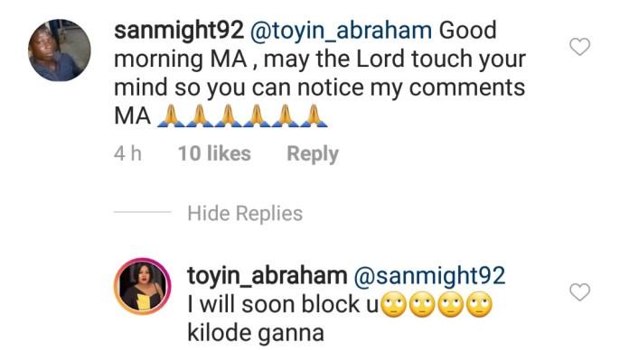 Toyin Aimakhu Tackles Persistent IG Begger 2
