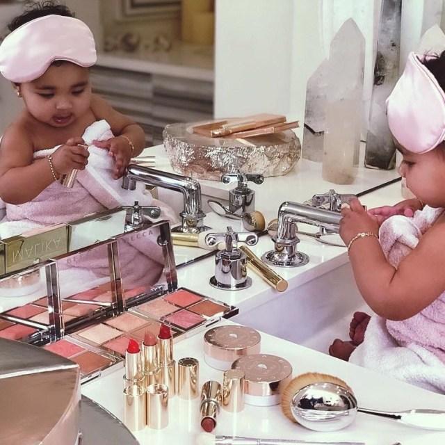KOKO Junior: True Thompson Plays With Mum Khloe Kardashian's Makeup In Adorable Photos 1