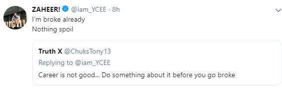 'I'm Broke Already'- Ycee 3