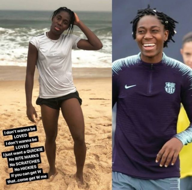 I Don't Want To Be Loved, I Just Want A Quickie - Super Falcons Star Asisat Oshoala Issues Booty Call 2