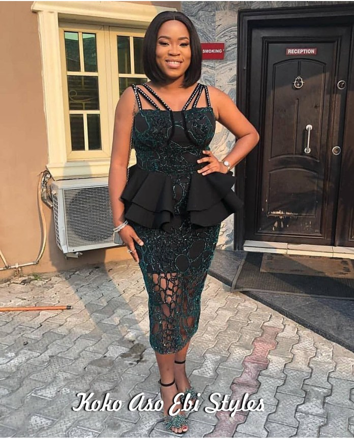 Aso Ebi Style: Green Is The Colour Of Freshness And These Five Designs Are Just That! 3