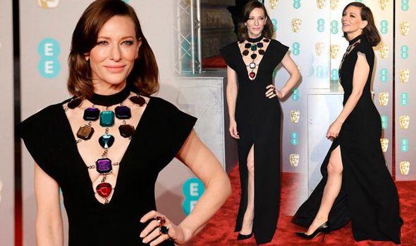 Style Stalking: Cate Blanchett Oozes Sophistication As She Goes Bra-less In Christopher Kane's Black Dress At BAFTAs 2019 3
