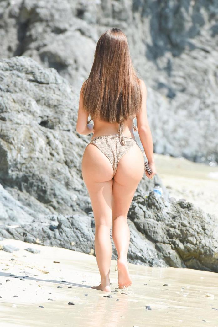 Sun, Sea And Swimwear: Demi Rose Flaunts Phenomenal Figure In A Fringed Bikini On Thailand Holiday 3