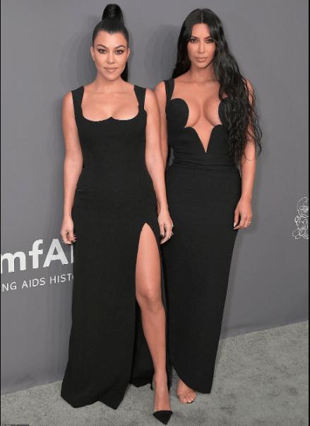 #SisterSister: Kim And Kourtney Kardashian Dominates AmfAR New York Gala In Black 9