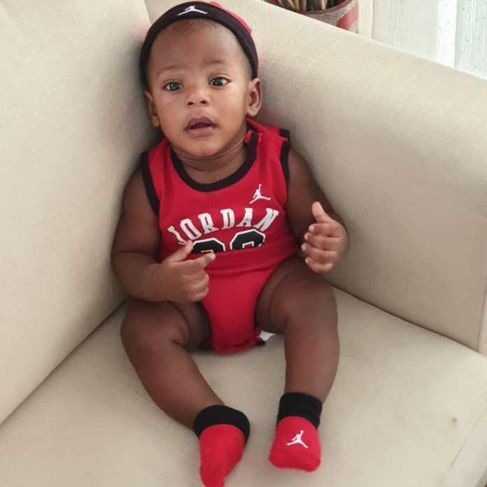KOKO Junior: Jayce Jeremi Is Absolutely Cute In Red Baby Jordan Ensemble 5