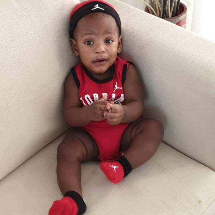 KOKO Junior: Jayce Jeremi Is Absolutely Cute In Red Baby Jordan Ensemble 3