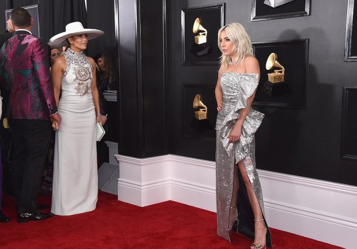 Style Stalking: Lady Gaga Is The Silver Queen In A Celine Gown At The 2019 Grammys 2