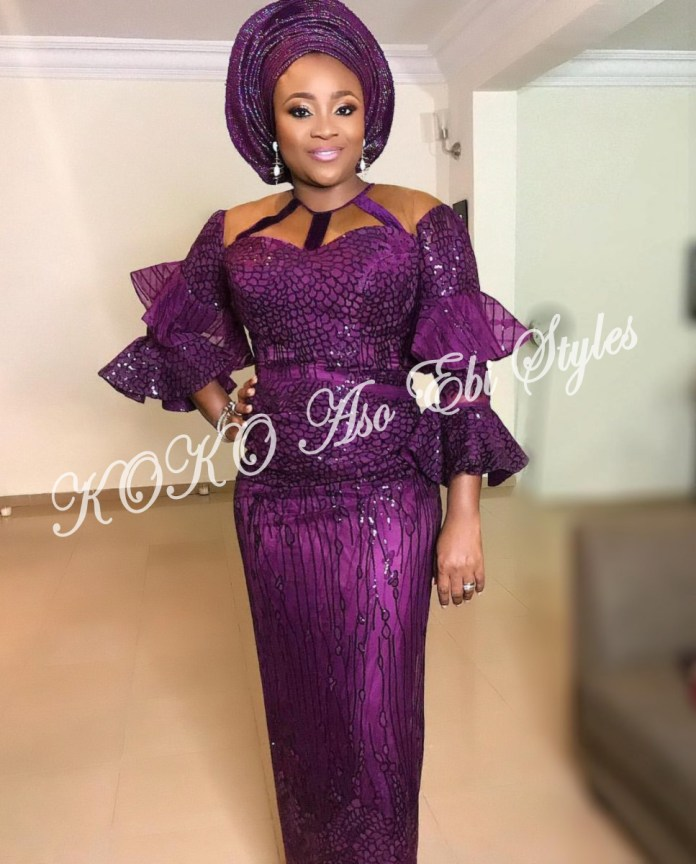 Ten Hot And Vibrant Aso Ebi Styles You Definitely Need To See! 2