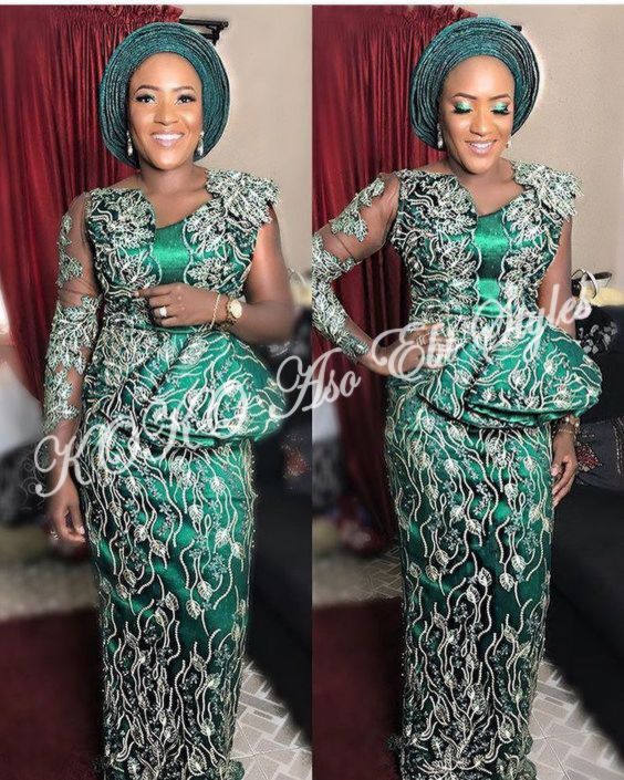 Bold And Beautiful! Five Aso-ebi Styles That Makes Daring Fashion Statements 2