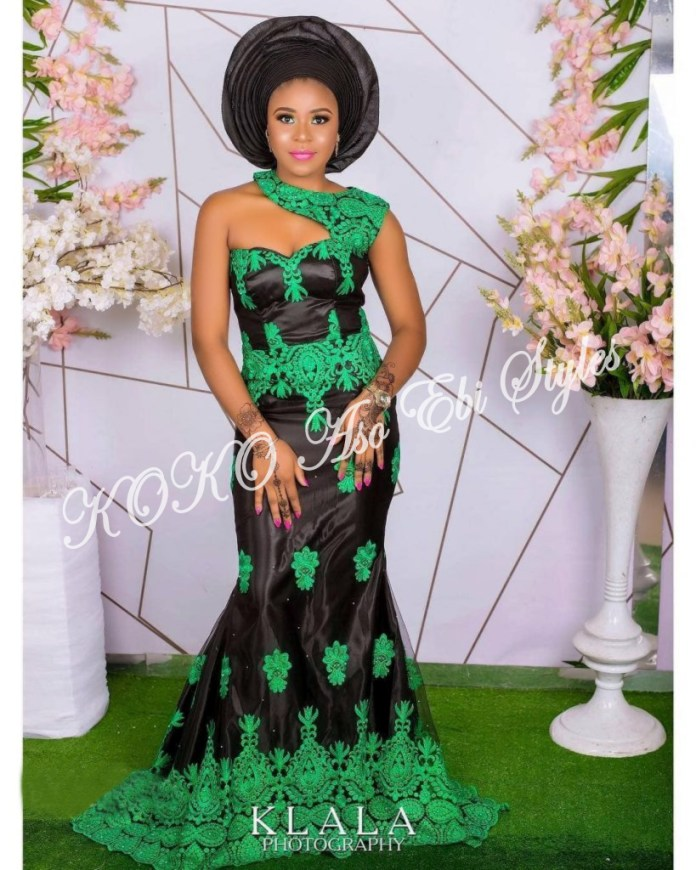 Five Extremely Fabulous Long Aso Ebi Styles That Will Leave You Swooning 3
