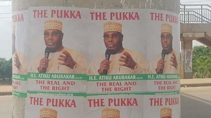 "Atiku Disowns Poster Calling Him ""The Pukka, H.E. Atiku Abubakar, The Real And The Right"" 1"
