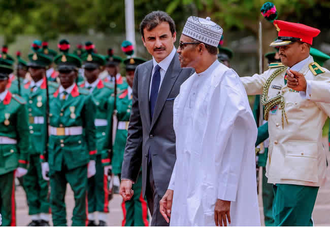The Insider: Exclusive Photos Of President Buhari Hosting The Emir Of Qatar 5