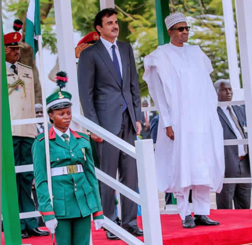 The Insider: Exclusive Photos Of President Buhari Hosting The Emir Of Qatar 6