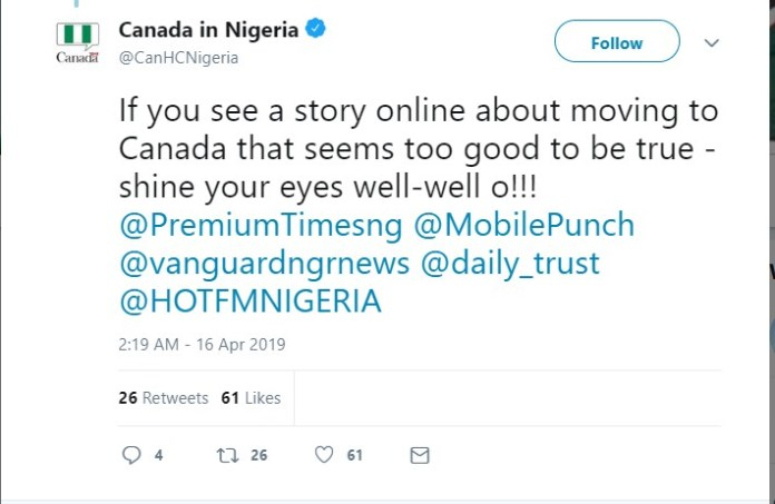 Shine Your Eyes Well-well...Canada Debunks News Of Asking Buhari For One Million Nigerians 2