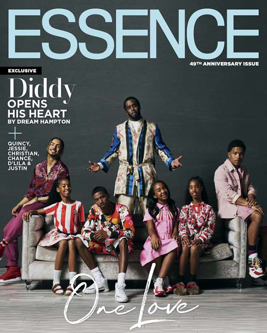 Diddy Covers Essence With His Kids, Reveals How He's Coping With Being A Single Parent 1