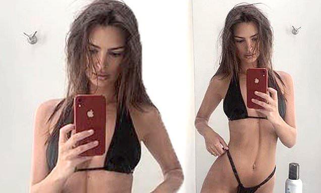 Emily Ratajkowski Poses Up A Storm In Daring Black Bikini 2