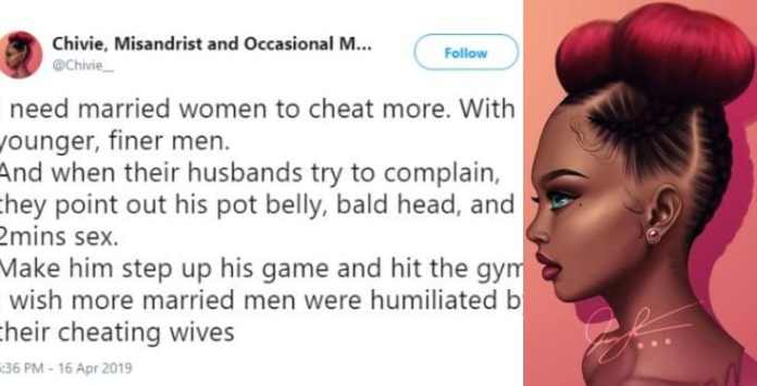 Feminist Tells Married Nigerian Women To Cheat On Their Husbands For This Bizarre Reason 1