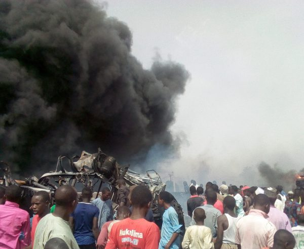 10 Burnt Beyond Recognition And Scores Injured As Petrol Tanker Collides With Truck In Gombe 1