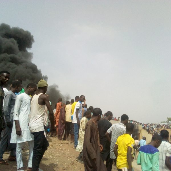10 Burnt Beyond Recognition And Scores Injured As Petrol Tanker Collides With Truck In Gombe 4