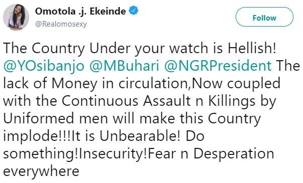 Nigeria Is Hell! Actress Omotola Ekeinde Savagely Attacks Buhari And Osinbajo 2
