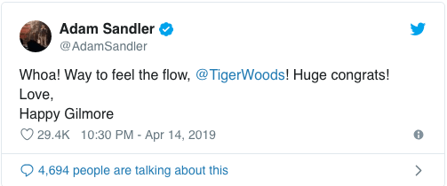 Serena Williams, Lebron James, Donald Trump And Other Stars Congratulates Tiger Woods On His Championship Win 1