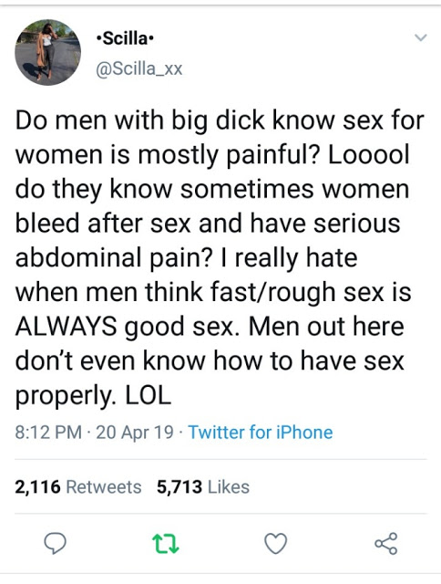 Nigerian Lady Lectures Men With Big Penis On Sex...And It's Epic 1