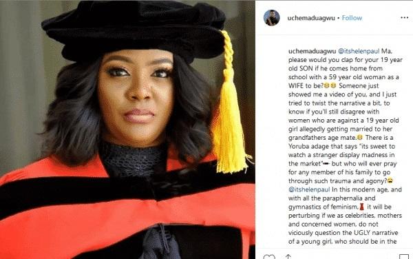 Uche Maduagwu Slams Helen Paul For Supporting Regina Daniels' Marriage 2