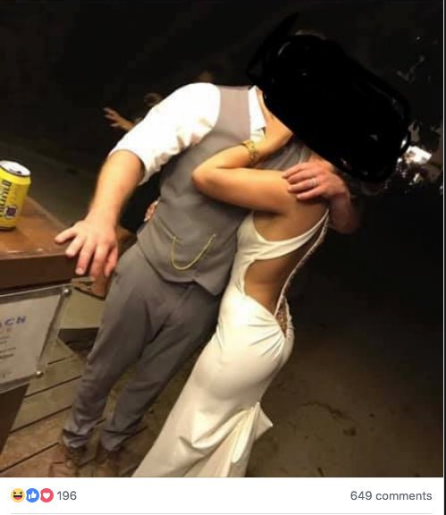 Bride Slammed For Wearing Trashy Wedding Dress Which Showed Her 'Bottom Cleavage' 2