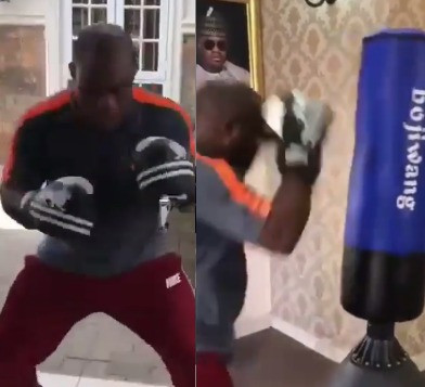 See Trending Video Of Kogi State Governor Yahaya Bello Practicing Boxing 2
