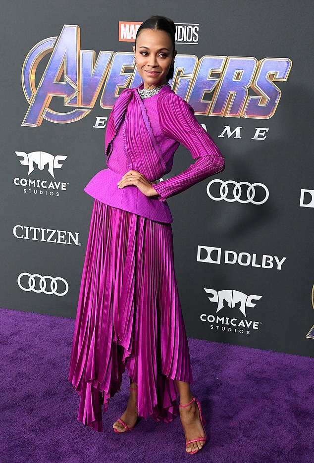 Who What Wear: Zoe Saldana Stuns In Givenchy Couture At Avengers: Endgame Premiere 1