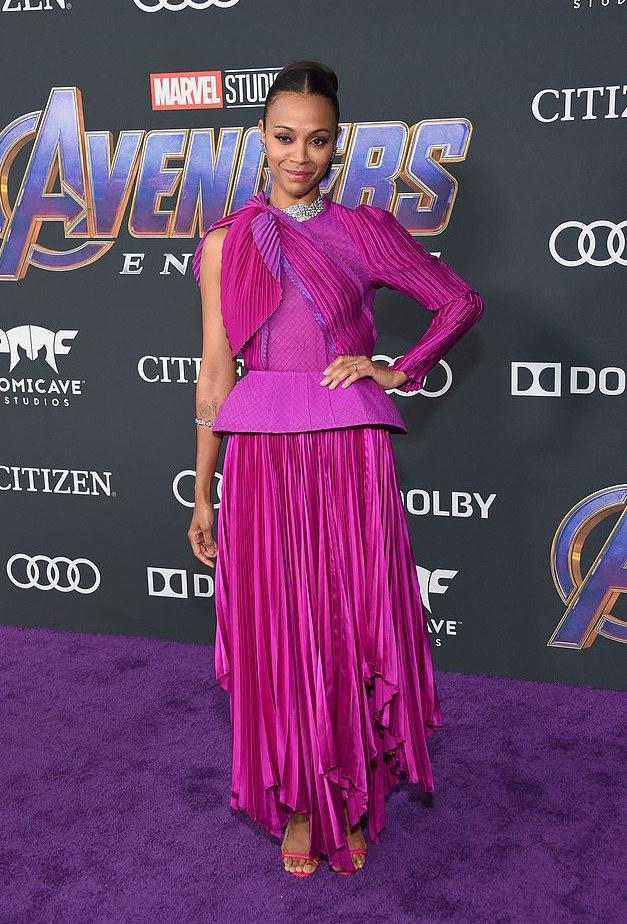 Who What Wear: Zoe Saldana Stuns In Givenchy Couture At Avengers: Endgame Premiere 2