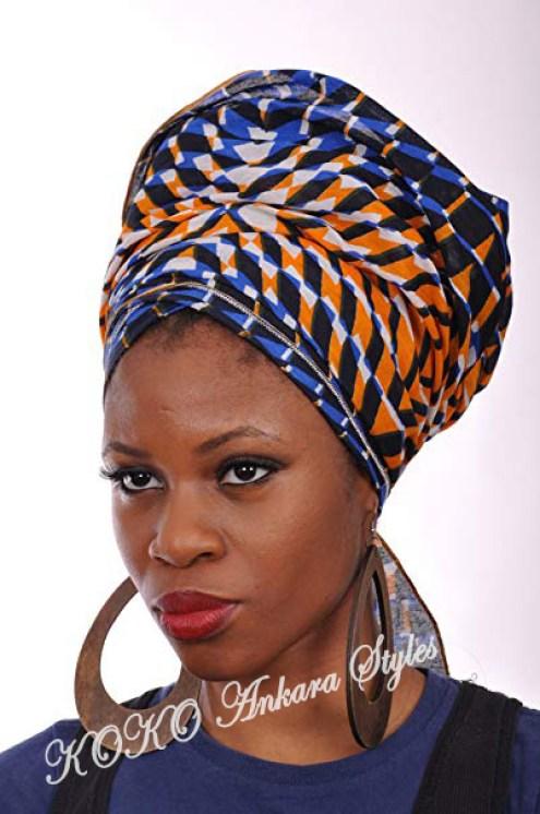 Ankara Styles: Five Eccentric Ankara Headwraps That Are Fashionable And Chic 4